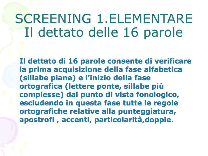 Istituto Comprensivo Di Sedegliano Screening In Prima Elementare